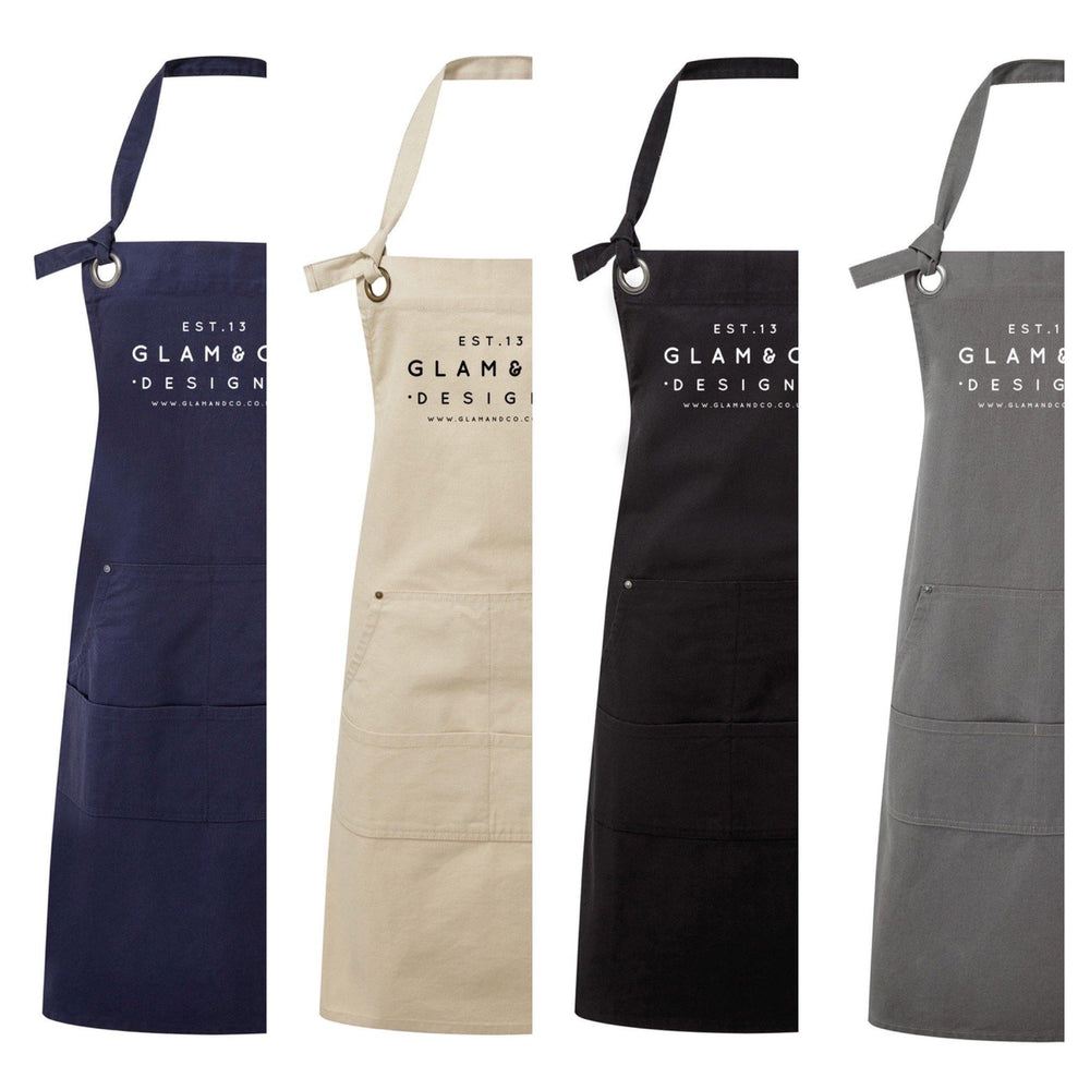 Logo Design Apron | Aprons for Women | Aprons for Men | Logo Apron - Blue Apron
