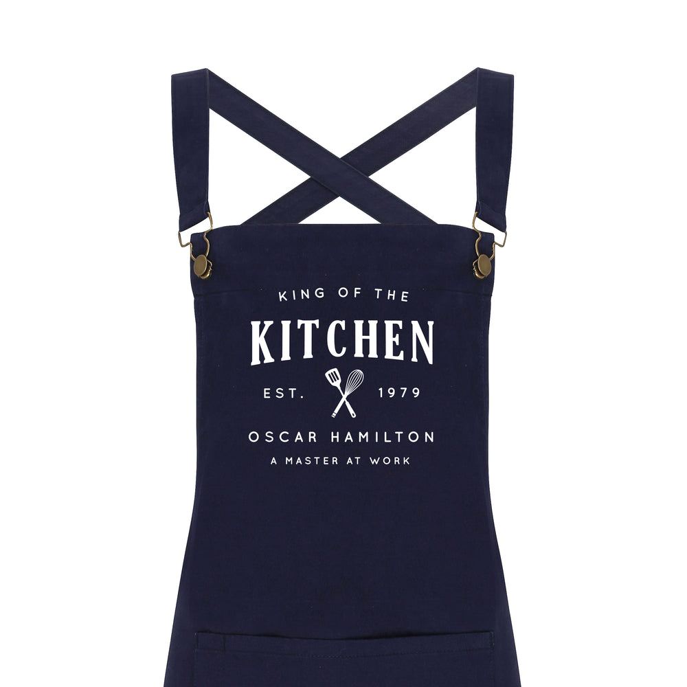 Personalised Barista Style Apron | King of the Kitchen - Glam & Co Designs Ltd