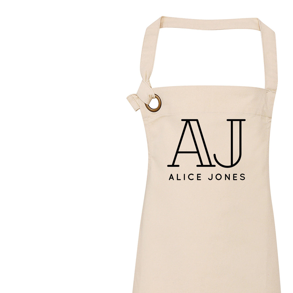 Personalised Apron | Aprons for Women | Custom Initials - Glam & Co Designs Ltd