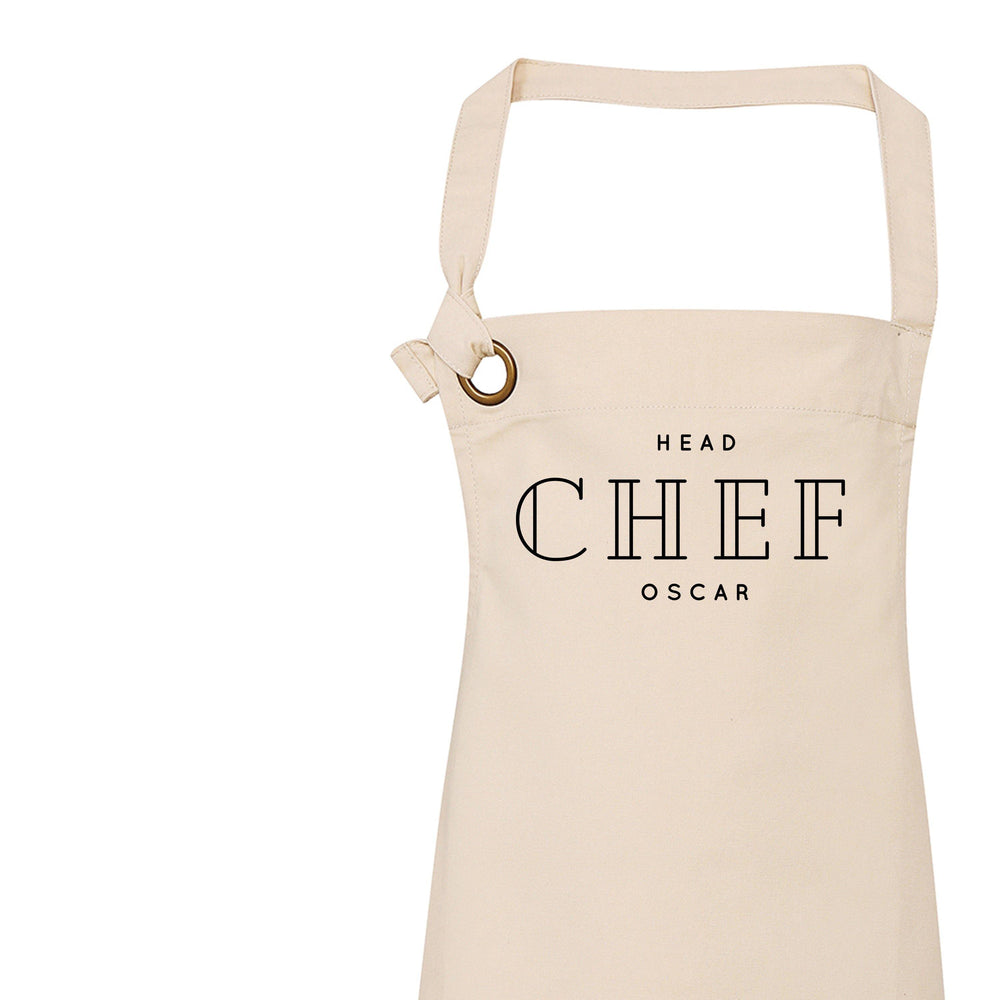 Personalised Aprons for Men and Women | Personalised Apron Head Chef - Glam & Co Designs Ltd