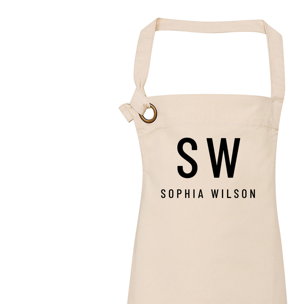 Personalised Apron | Initials and Name - Glam & Co Designs Ltd