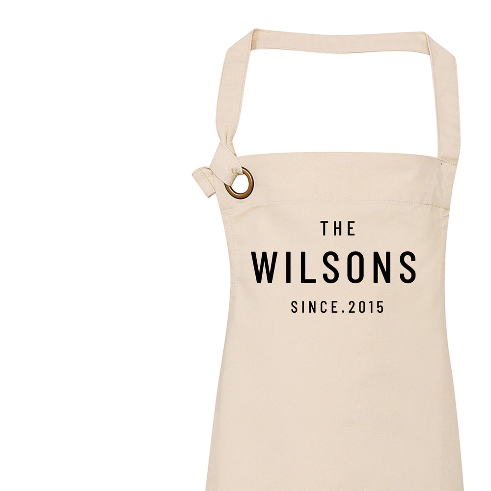 Personalised Apron | Family Name - Glam & Co Designs Ltd
