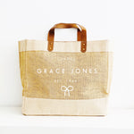 Personalised Jute Tote Shopping Bag - Birthday Bag