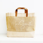 Personalised Jute Tote Bag - Mrs Bag