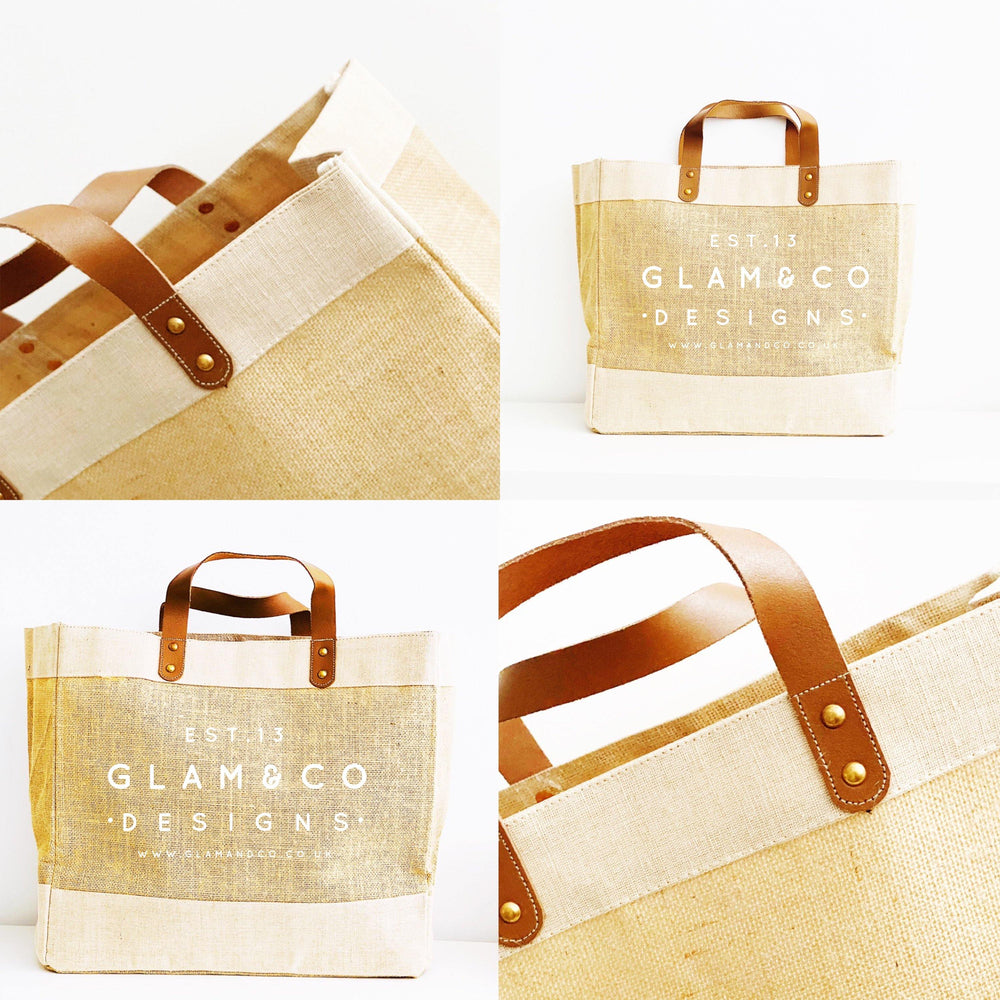 Personalised Jute Tote Bag | Personalised Place Tote Bag - Glam and Co