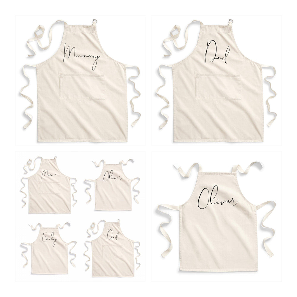 Personalised Aprons | Custom apron for Dad | Custom apron for Mum | Personalised kids aprons | Personalised family aprons - Glam & Co Designs Ltd