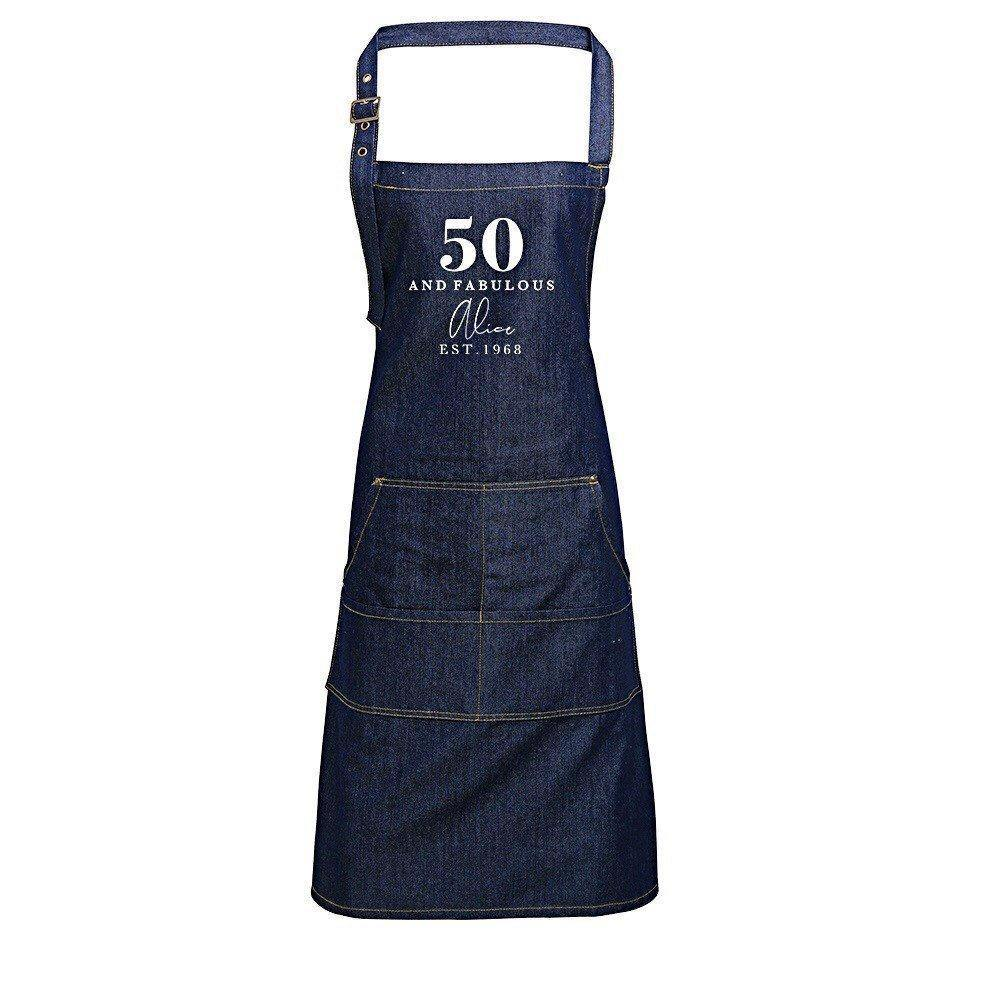 Personalised Apron | Aprons for Women | 40th Birthday Gift Ideas | Birthday Gift for Her | 18th 21st 30th 40th 50th 60th Birthday Gift Ideas