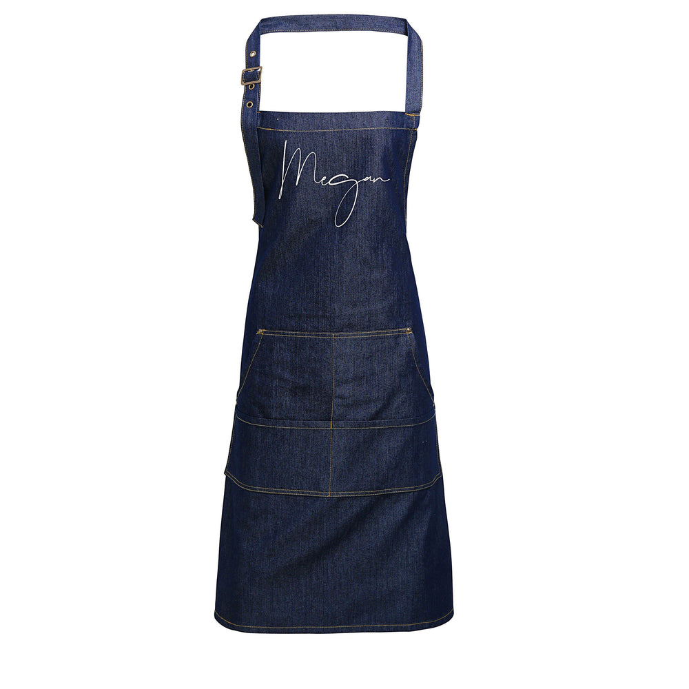 Personalised Denim Apron | Aprons for Women | Birthday Gift Ideas | Vintage Style Custom Apron | Personalised Apron - Glam & Co Designs Ltd