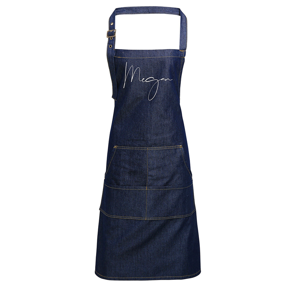 Personalised Denim Apron | Aprons for Men | Birthday Gift Ideas | Vintage Style Custom Apron | Personalised Apron - Glam & Co Designs Ltd