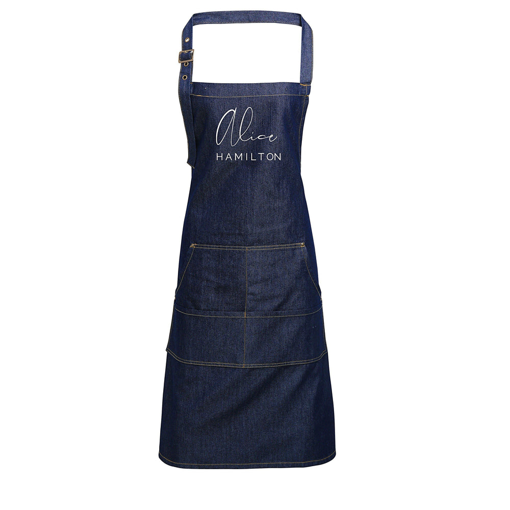 Personalised Aprons | Custom apron for Mr and Mrs | Custom apron for Him and Her | Personalised couples apron | Personalised  apron - Glam & Co Designs Ltd