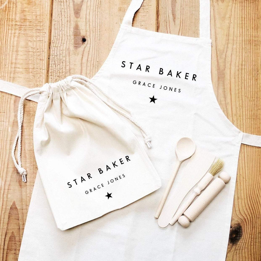 Kids Baking Set | Star Baker | Kids Baking Apron | Personalised Kids Baking Set | Personalised Kids Apron |Aprons for Children |Kids Baking - Glam & Co Designs Ltd