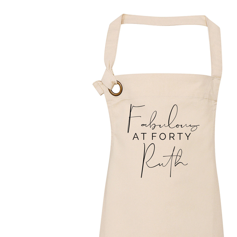 Personalised Apron for Her - Fabulous at Forty - Glam & Co Designs Ltd