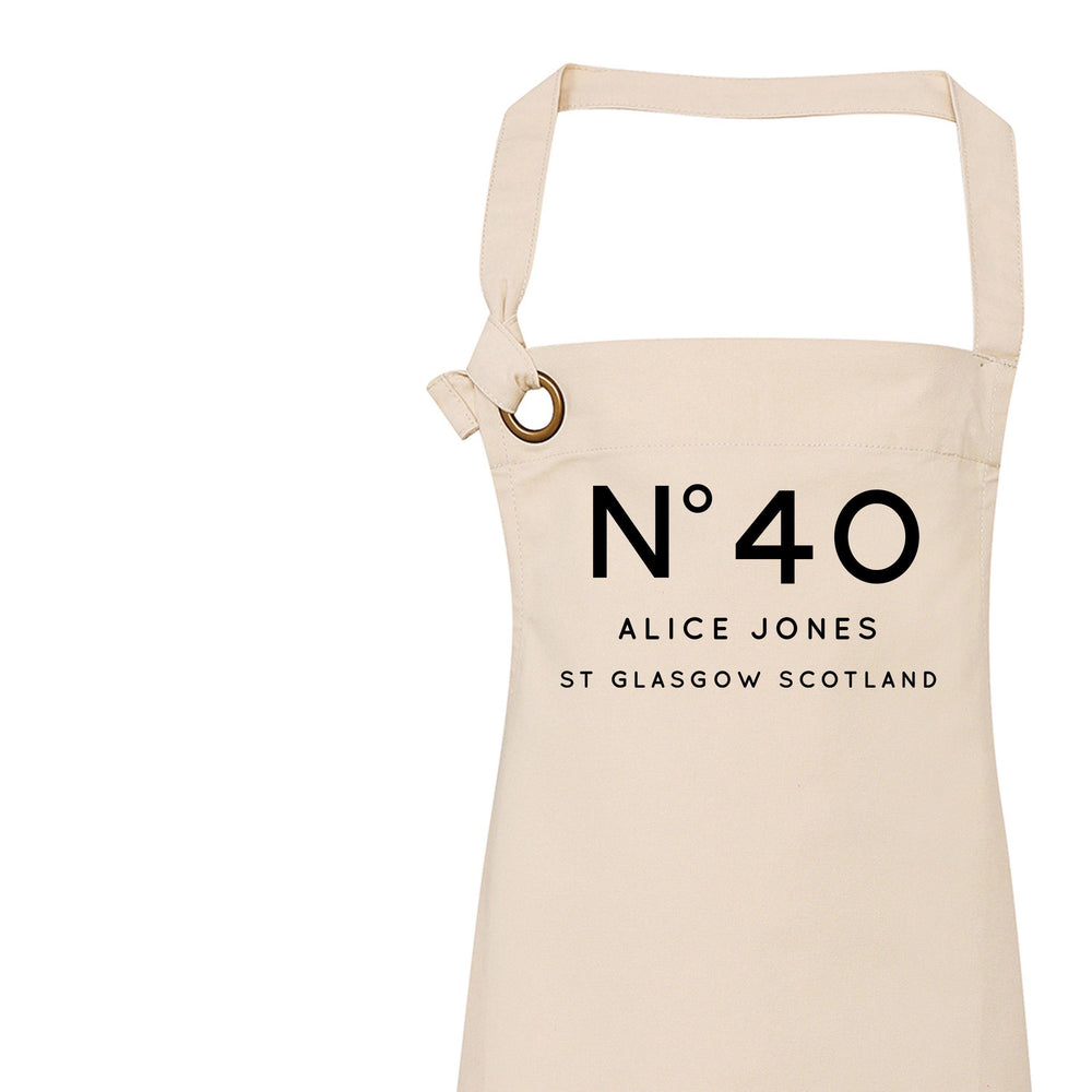 Personalised Apron | Aprons for Women | 40th Birthday Gift Ideas | Birthday Gift for Her | 18th 21st 30th 40th 50th 60th Birthday Gift Ideas - Glam & Co Designs Ltd