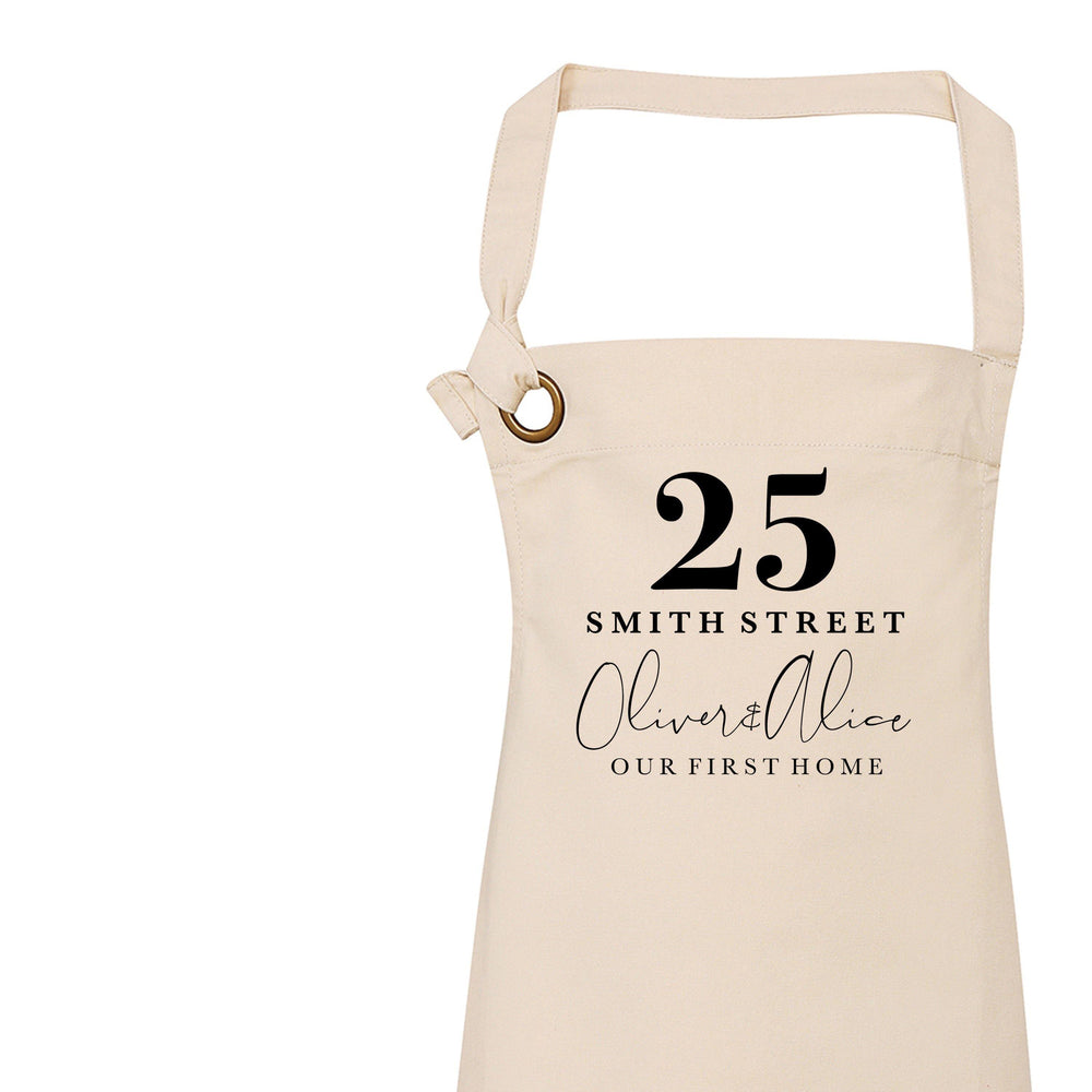 Personalised Apron| New Home Gift | Gift ideas for House Warming | Gift ideas for Her | Custom Apron | Home Accessories | Custom Kitchenware - Glam & Co Designs Ltd