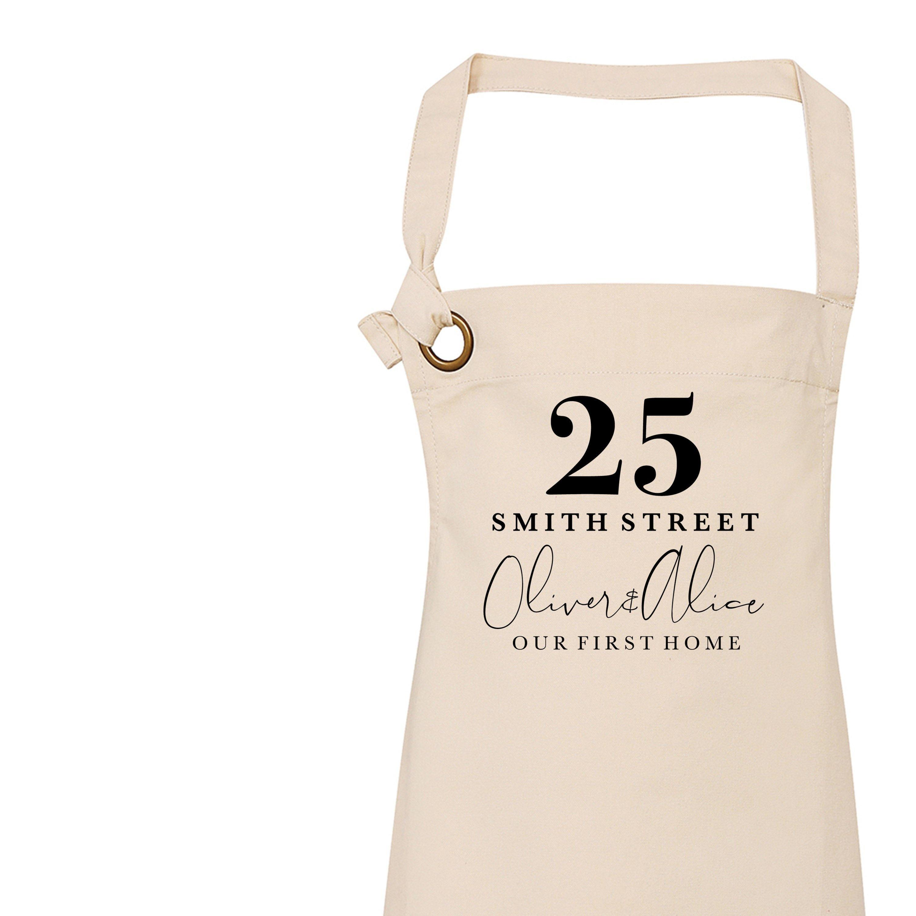 Personalised Apron New Home Gift Gift Ideas For House Warming Gift Ideas For Her Custom Apron Home Accessories Custom Kitchenware