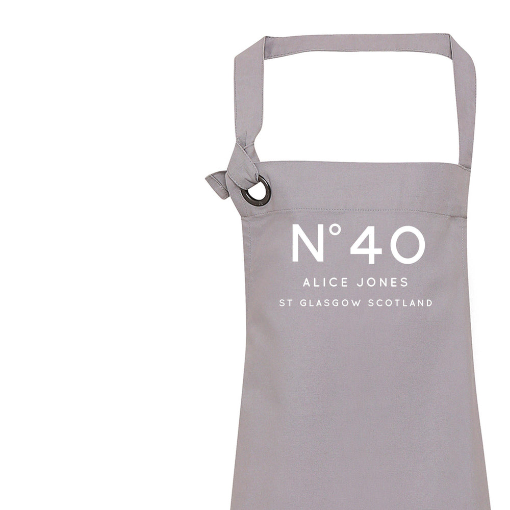 Personalised Apron | Aprons for Women | Grey Kitchen Apron | Apron | Custom Apron for Women | Personalised Cook Gift | Gift ideas for Her - Glam & Co Designs Ltd