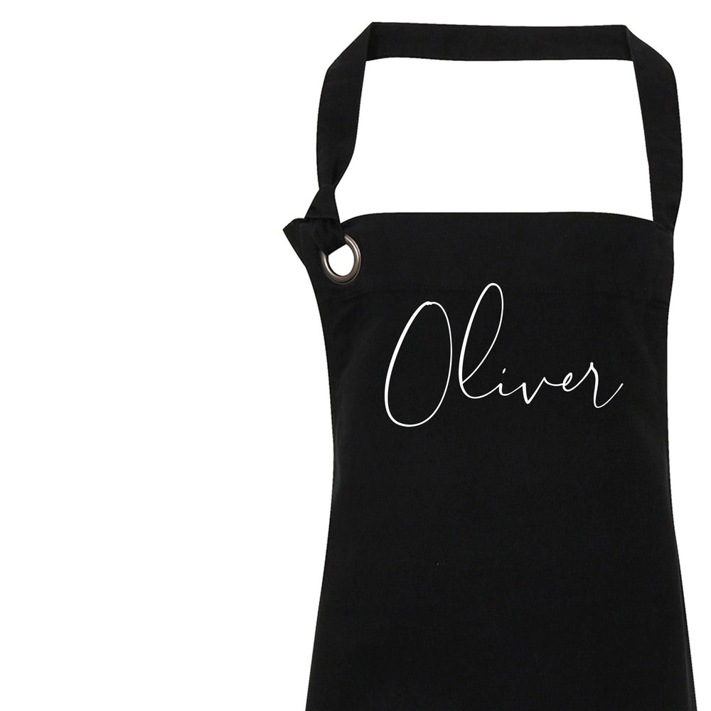 Personalised Apron | Aprons for Men | Vintage Apron | Retro Apron | Custom Apron for Men | Personalised Cook Gift | Black Apron