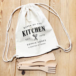 Aprons for Women | Queen of the Kitchen | Personalised Apron | Custom Apron | Vintage Style Personalised Apron | Homeware Gift Ideas - Glam & Co Designs Ltd