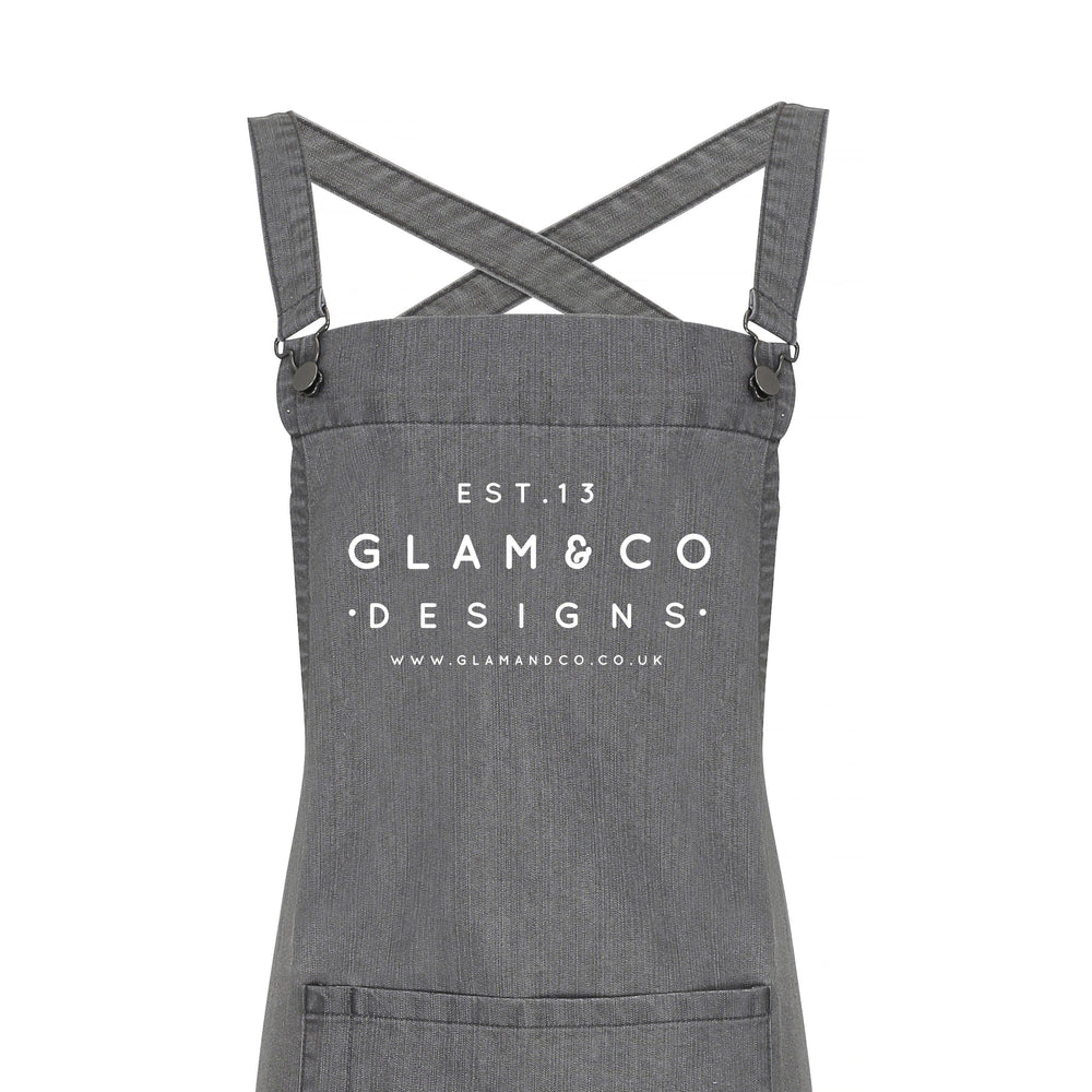 Barista Style Custom Apron | Design Your Own Custom Apron | Logo Design - Glam & Co Designs Ltd