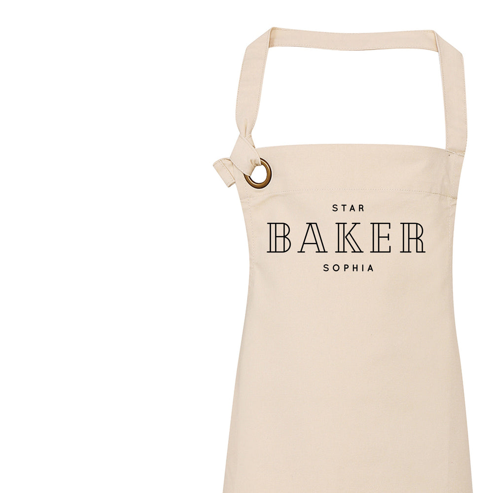 Star Baker Apron | Aprons for Women | Aprons for Men | Personalised Apron | Custom Apron | Vintage Style Personalised Apron | Homeware Gifts - Glam & Co Designs Ltd