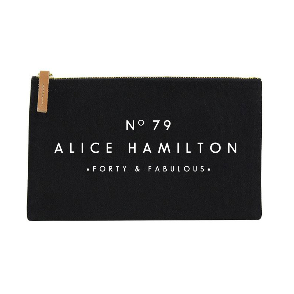 Personalised Make Up Bag | 40th 50th 60th Birthday Gift | Gift Ideas for Her | Custom Makeup Bag | Birthday gift ideas for her | Birthday - Glam & Co Designs Ltd