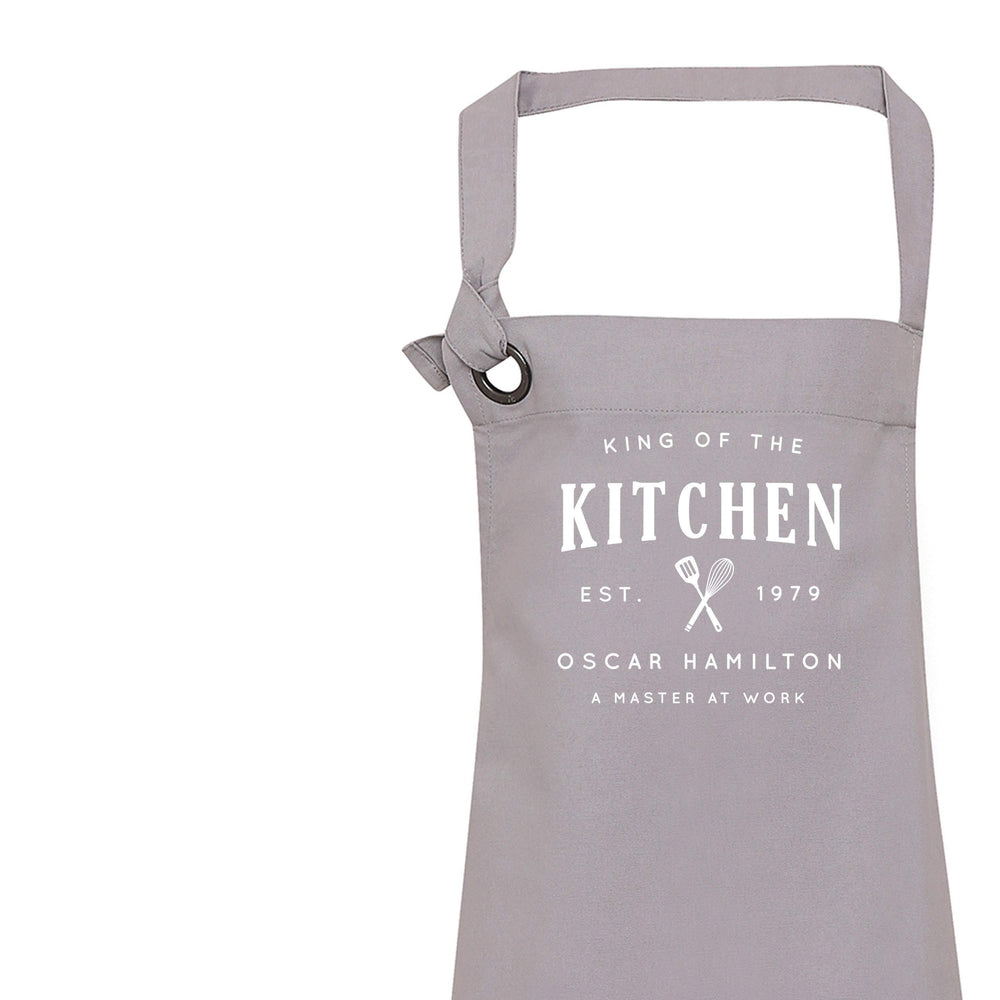 Aprons for Men | King of the Kitchen | Personalised Apron | Custom Apron | Vintage Style Personalised Apron | Homeware Gift Ideas