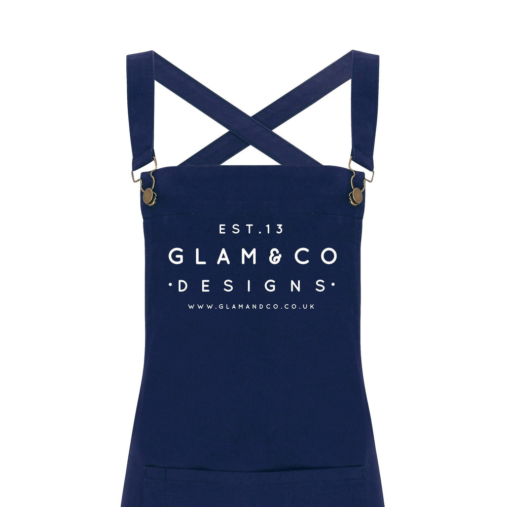 Barista Style Custom Apron, Design Your Own Custom Apron, Logo Design - Glam & Co Designs Ltd