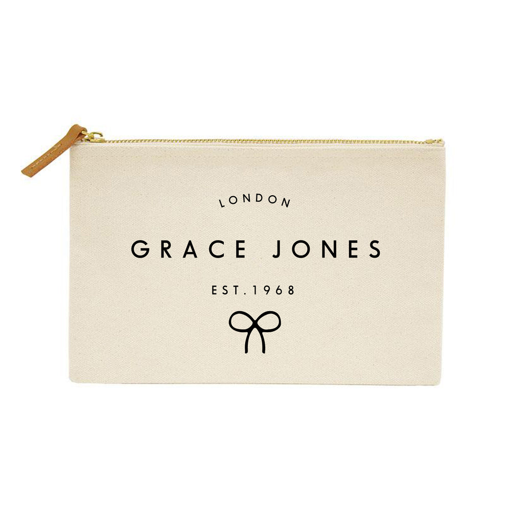 Personalised Make Up Bag | Custom Makeup Bag | Birthday gift ideas for her | Personalised Clutch Bag | Personalised Pouch | Womens Gifts - Glam & Co Designs Ltd