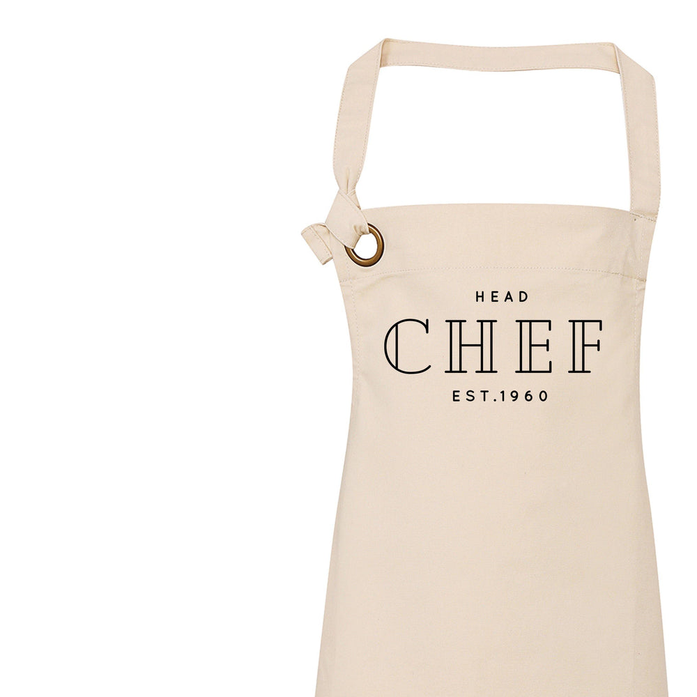 Aprons for Men | Personalised Apron | Custom Apron | Vintage Style Personalised Apron | Head Chef | Homeware Gift Ideas