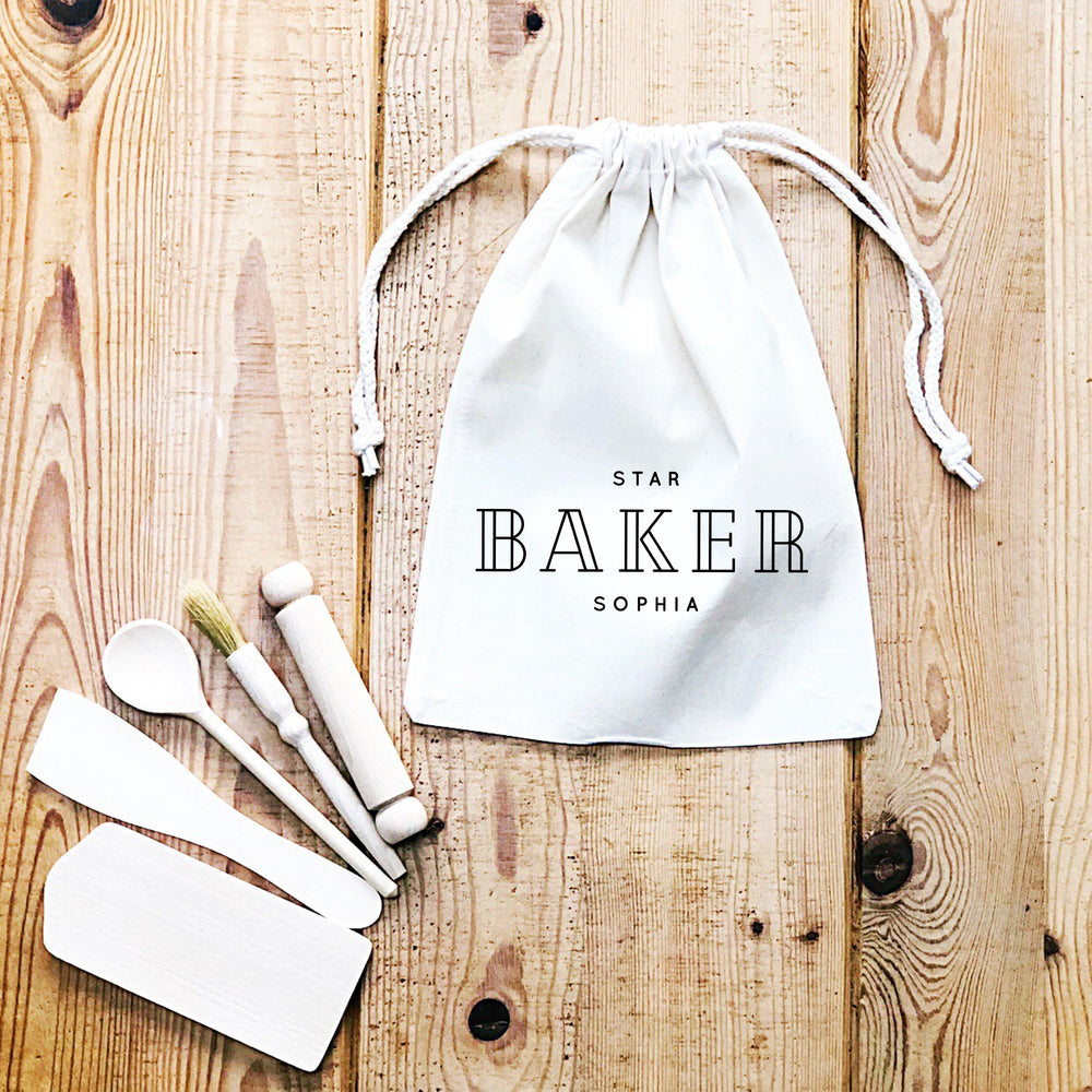 Kids Baking Set | Head Chef | Kids Baking Apron | Personalised Kids Baking Set | Personalised Kids Apron |Aprons for Children |Kids Baking - Glam & Co Designs Ltd