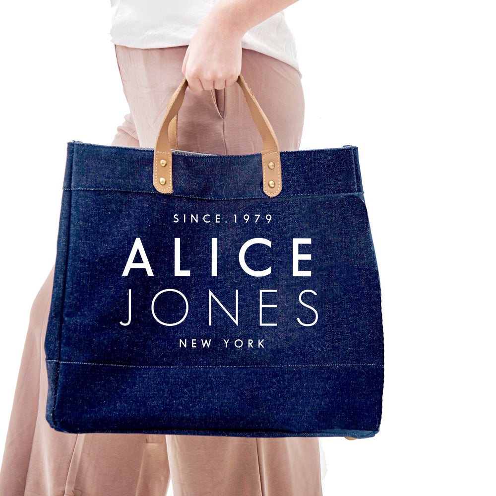 Personalised Denim Bag | Custom Denim Tote Bag | Personalised Shopping Bag | Gift ideas for Her | Custom Bag | Custom Denim Shopping Bag