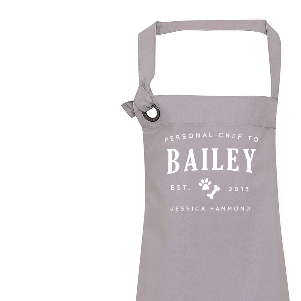 Personalised Apron | Aprons for Women | Vintage Apron | Dog Lover Gifts | Custom Apron for Women | Personal Chef Apron | Grey Apron - Glam & Co Designs Ltd