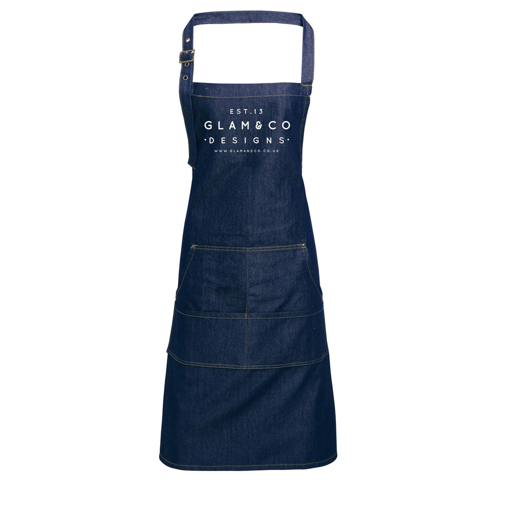 Personalised Denim Apron | Aprons for Women | Birthday Gift Ideas | Vintage Style Custom Apron | Personalised Apron - Glam and Co