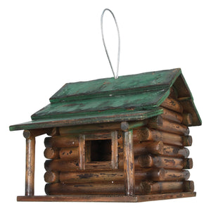 BIRDHOUSE - WOOD LOG CABIN
