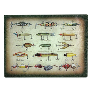 CUTTING BOARD 12IN X 16IN - ANTIQUE LURE