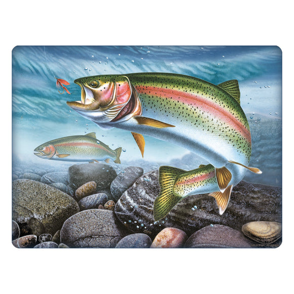 CUTTING BOARD 12IN X 16IN - RAINBOW TROUT