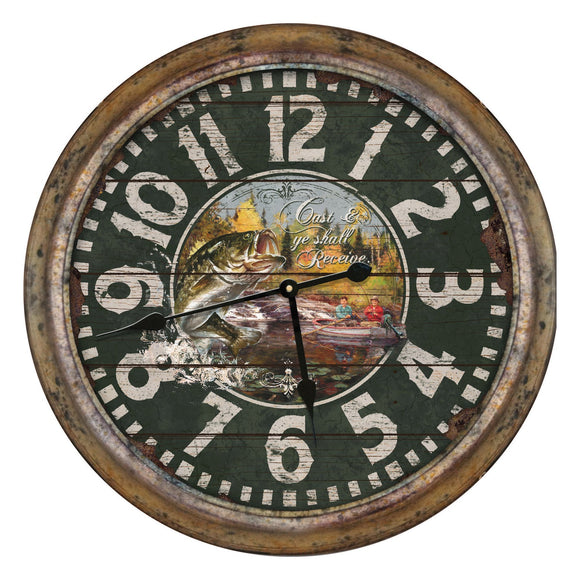 CLOCK 26-INCH - STAG LODGE