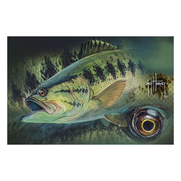 DOOR MAT RUBBER 26IN X 17IN - GUY HARVEY BASS