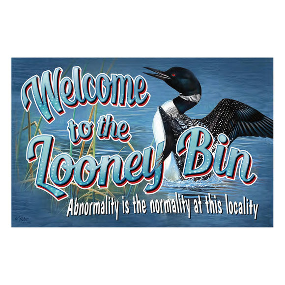 DOOR MAT RUBBER 26IN X 17IN - LOONEY BIN