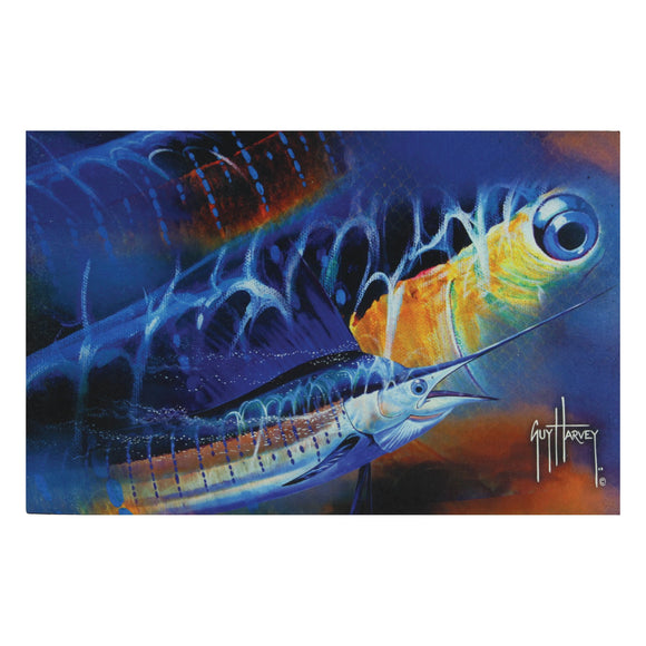 DOOR MAT RUBBER 26IN X 17IN - GUY HARVEY SAILFISH