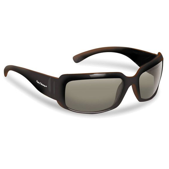 Flying Fishermen LA PALMA SUNGLASSES, BROWN POLYCARBONATE FRAME, SMOKE LENS, SMALL-MEDIUM FIT, 1.2 OZS