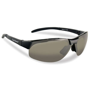 Flying Fishermen MAVERICK SUNGLASSES, BLACK TR 90 GRILAMID FRAME, SMOKE LENS, LARGE FIT, .8 OZS