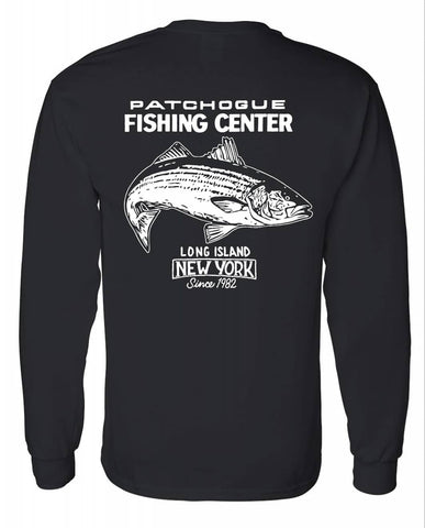 "J&J Sports ""Patchogue Fishing Center""  Long Sleeve T-Shirt"