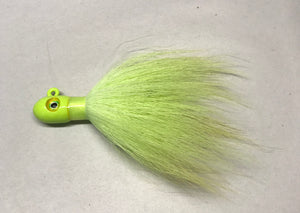 Jecks Bucktails Chartreuse 3 Pack