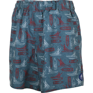 AFTCO BOATBAR SWIM TRUNKS | AIR FORCE BLUE