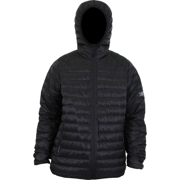ADDER DOWN HOODED JACKET BLACK