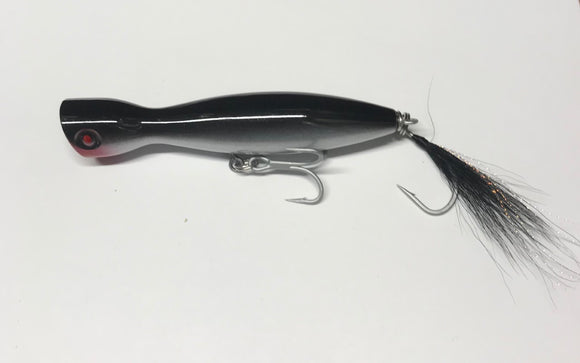 Super Strike Little Neck Popper  2-3/4oz Black Silver