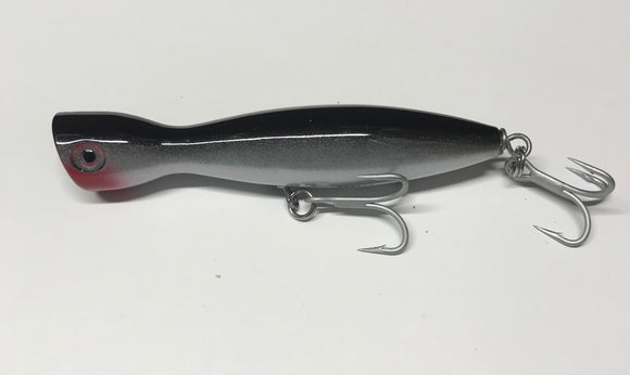 Super Strike 2 3/8 oz Little Neck Popper Black Silver