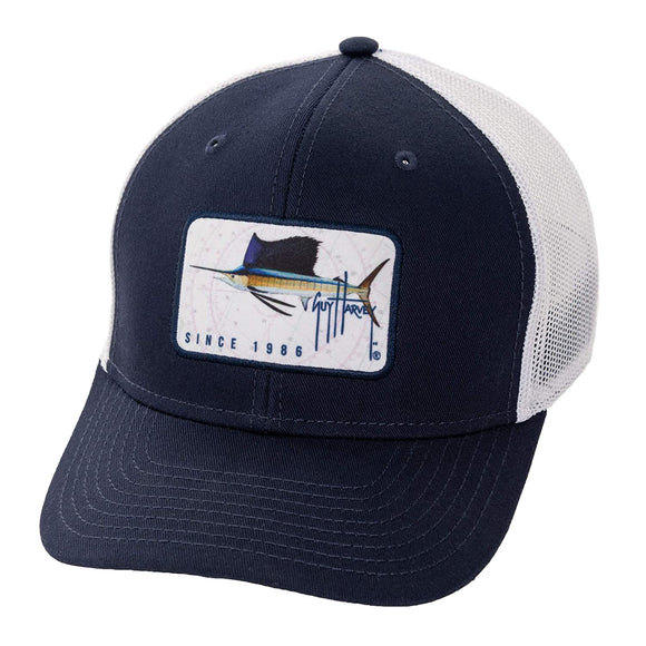 Guy Harvey Men's Sublimated Patch Trucker Hat
