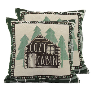 TAPESTRY PILLOW 18IN - CABIN 2PK